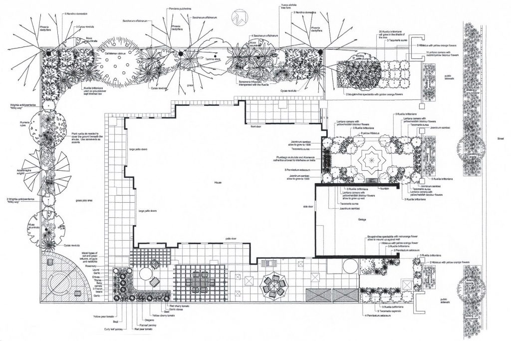 Planting Plan for House in Dubai