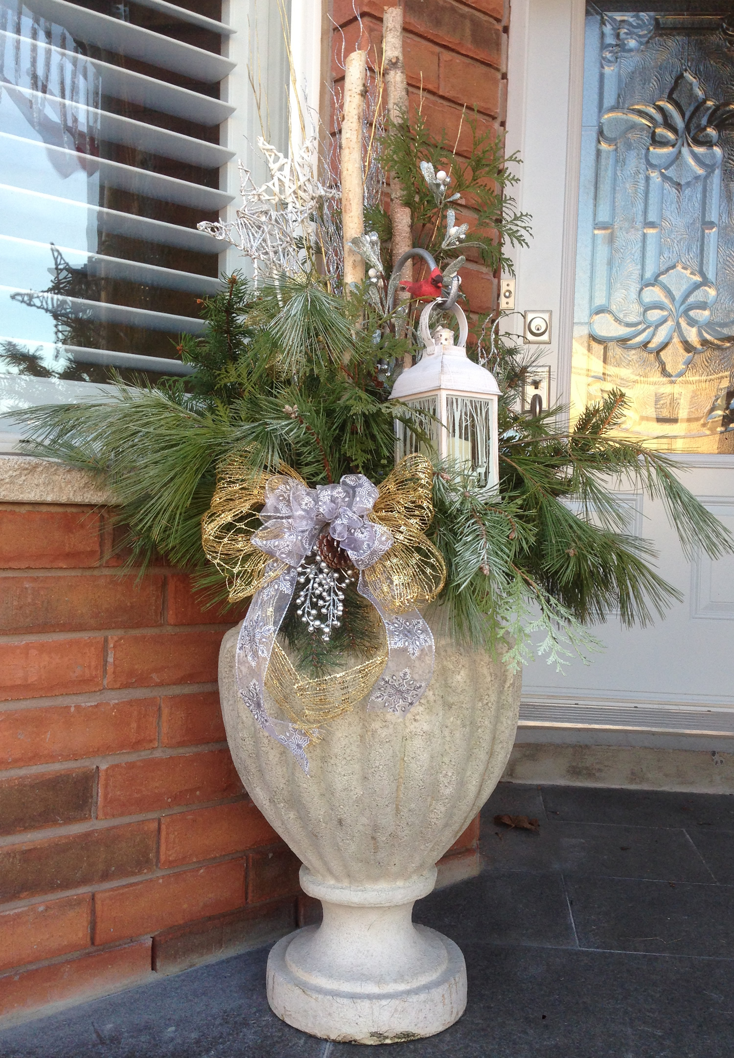 Elegant Christmas Urn Arrangement