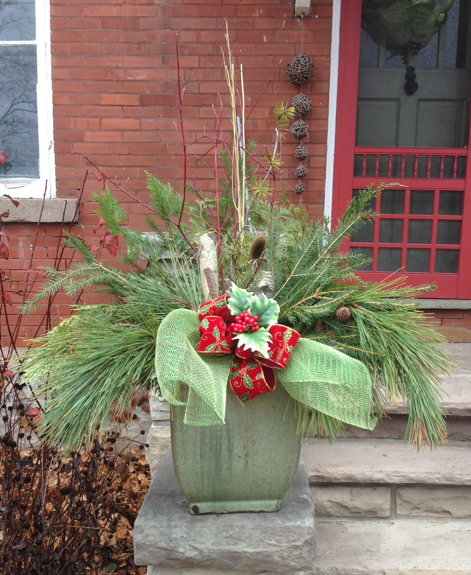 Shades Green Christmas Planter