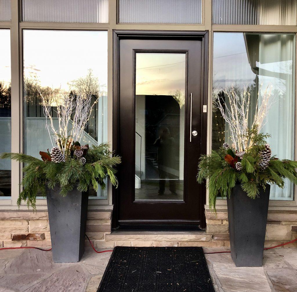 Front entrance planters